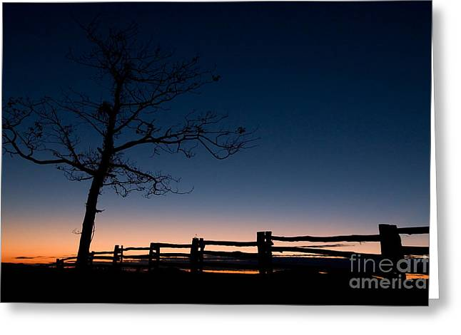 Deep Blue Dawn On The Blue Ridge Parkway Greeting Card