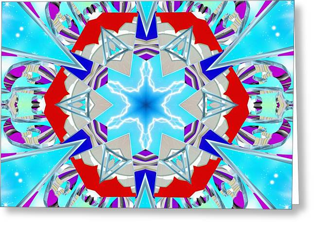 Deep Blue Geometry Greeting Card