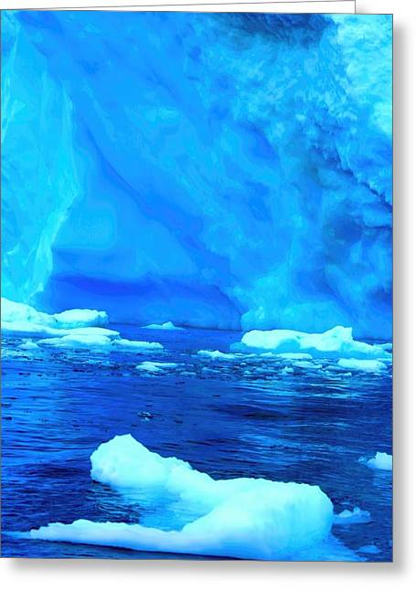 Greeting Card featuring the photograph Deep Blue Iceberg by Amanda Stadther