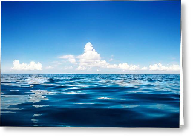 Deep Blue Greeting Card by Nicklas Gustafsson