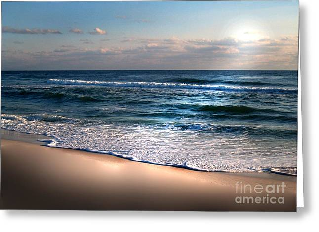 Deep Blue Sea Greeting Card by Jeffery Fagan