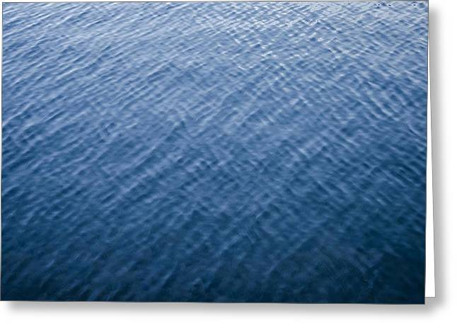 Deep Blue Water Greeting Card