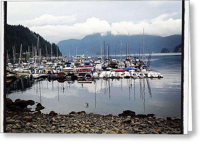 Deep Cove Marina Greeting Card