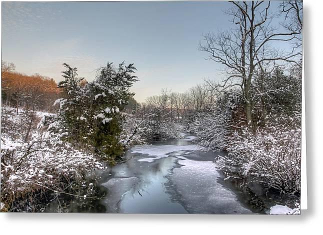 Deep Creek At Green Lane Reservoir - Pennsylvania Usa Greeting Card by Mother Nature