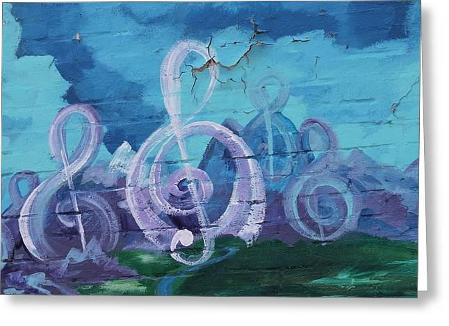 Deep Ellum Means Music Greeting Card by Lorri Crossno