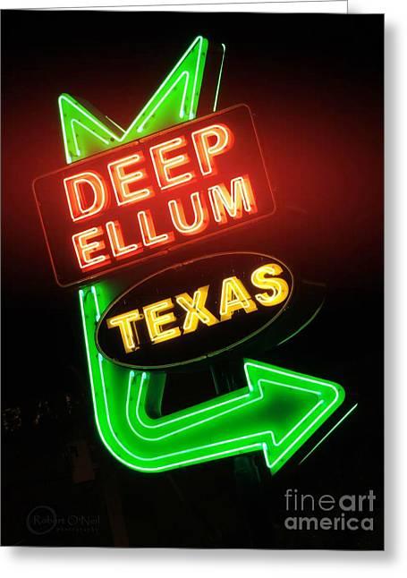Deep Ellum Red Glow Greeting Card