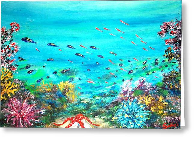 Deep End Of The Sea Greeting Card by Mary Sedici