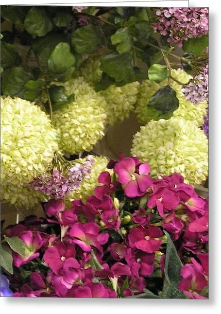 Deep Floral Falls Greeting Card