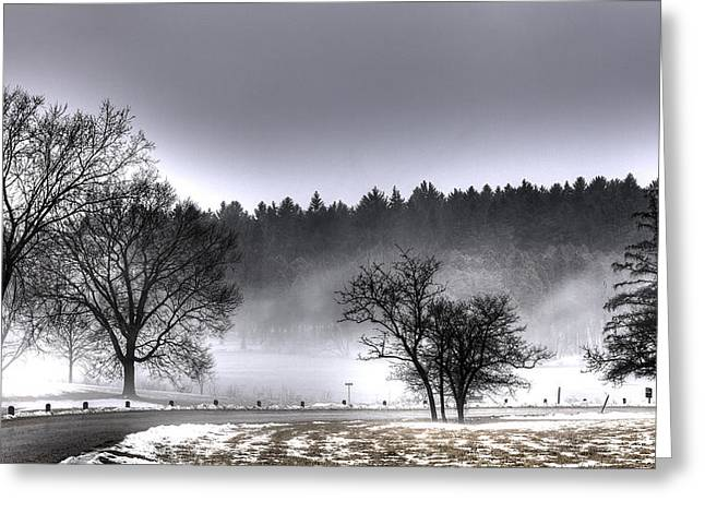 Deep Fog Over Marmo Greeting Card