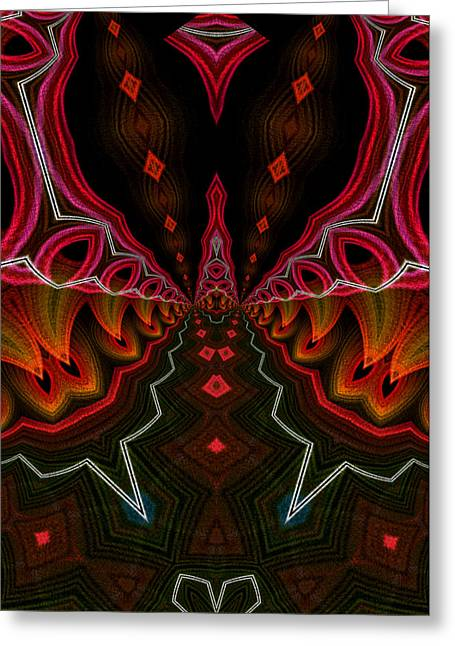 Greeting Card featuring the digital art Deep In Thought by Owlspook