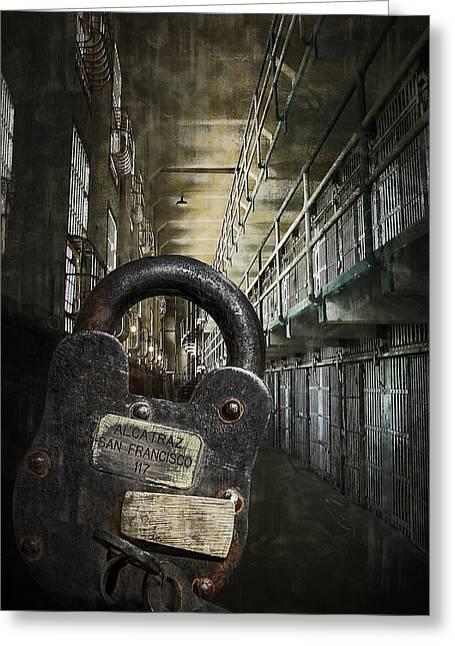 Deep Lockdown Alcatraz Greeting Card by Daniel Hagerman