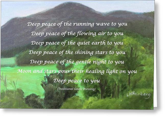 Deep Peace With Ct River Valley Greeting Card