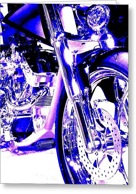 Deep Purple Art On Two Wheels Greeting Card