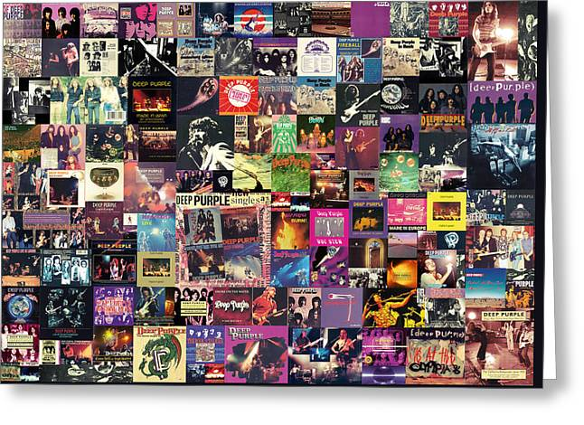 Deep Purple Collage Greeting Card