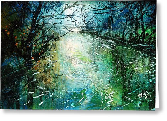 Deep River Pool Greeting Card by Neil McBride