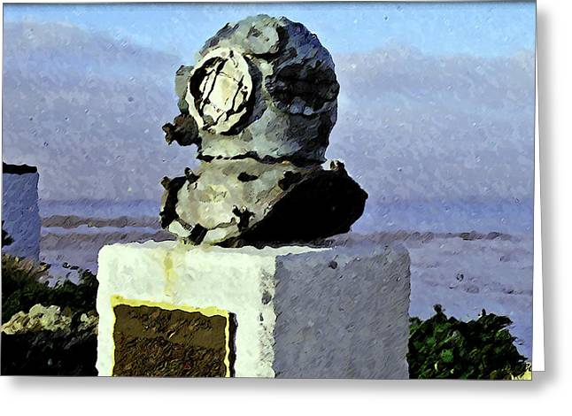 Deep Sea Divers Memorial Greeting Card by Christopher Bage