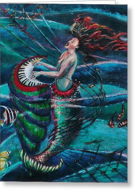 Deep Sea Melody Greeting Card by Maria Valladarez