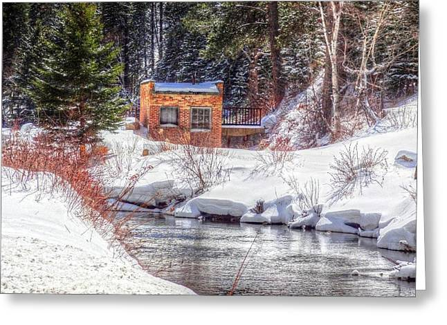Deep Snow In Spearfish Canyon Greeting Card