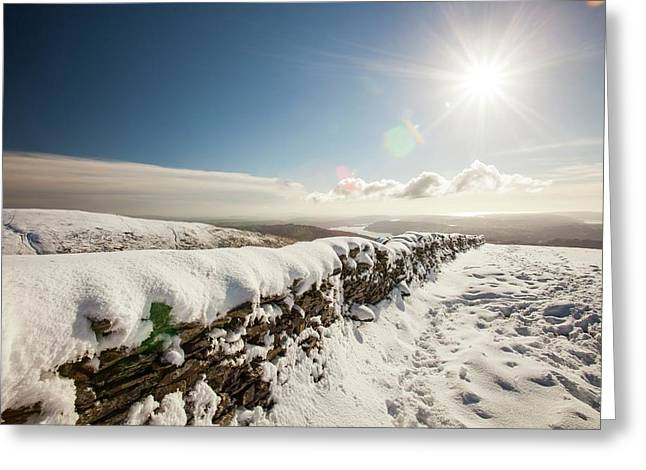 Deep Snow On The Fairfield Horseshoe Greeting Card by Ashley Cooper