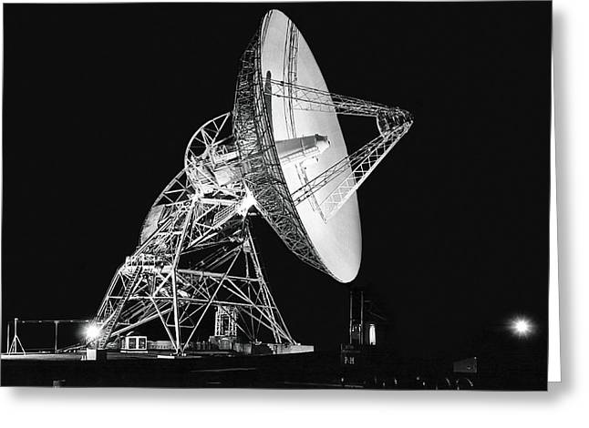 Deep Space Tracking Station Greeting Card by Underwood Archives