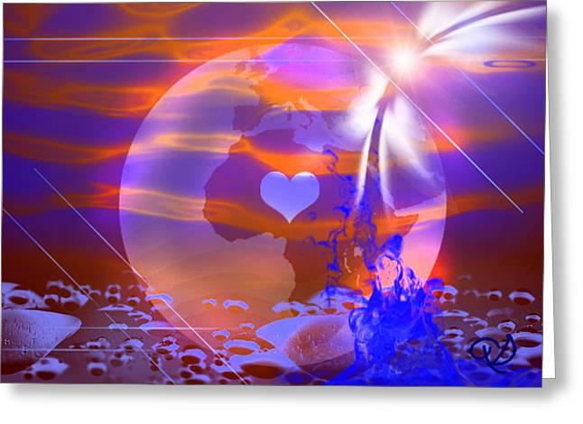 Deep Transformation Greeting Card by Ute Posegga-Rudel