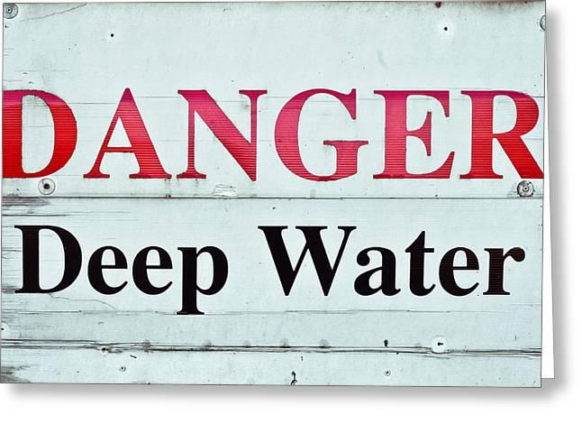 Deep Water Greeting Card by Tom Gowanlock