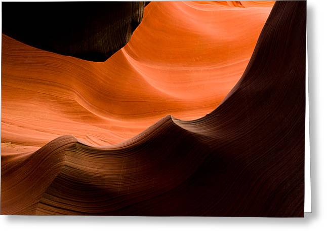 Deep Waves Greeting Card by Roger Chenery