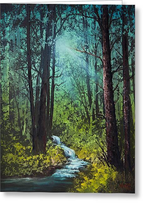 Deep Woods Stream Greeting Card