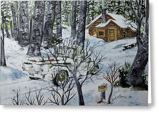 Deer Camp 141114 Greeting Card