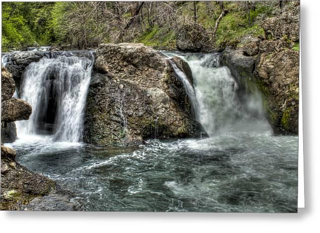 Deer Creek Falls Greeting Card by Ren Alber