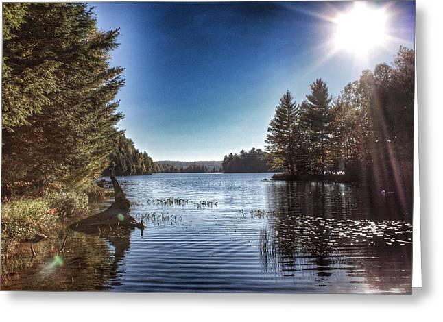 Deer Lake Narrows Greeting Card by Lee Burgess