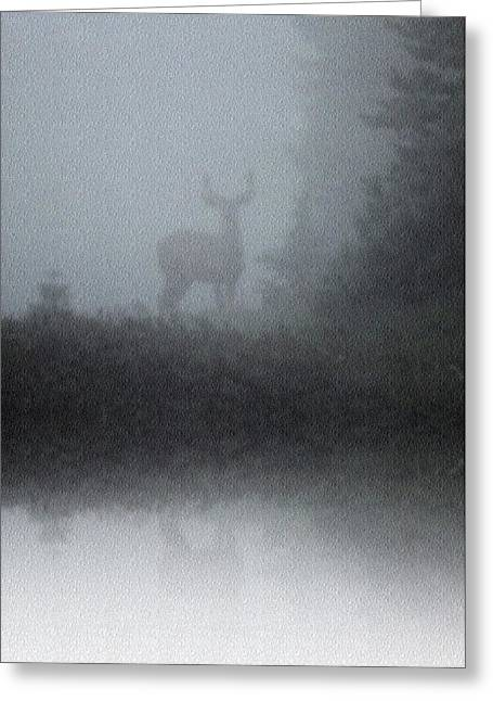 Greeting Card featuring the photograph Deer Reflecting by Diane Alexander