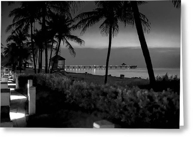 Deerfield Beach Greeting Card by Louis Ferreira