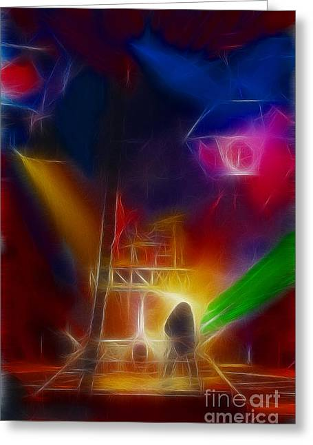 Def Leppard-adrenalize-gf10-fractal Greeting Card by Gary Gingrich Galleries