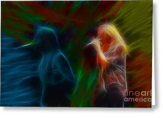 Def Leppard-adrenalize-jor-gb20--fractal Greeting Card by Gary Gingrich Galleries