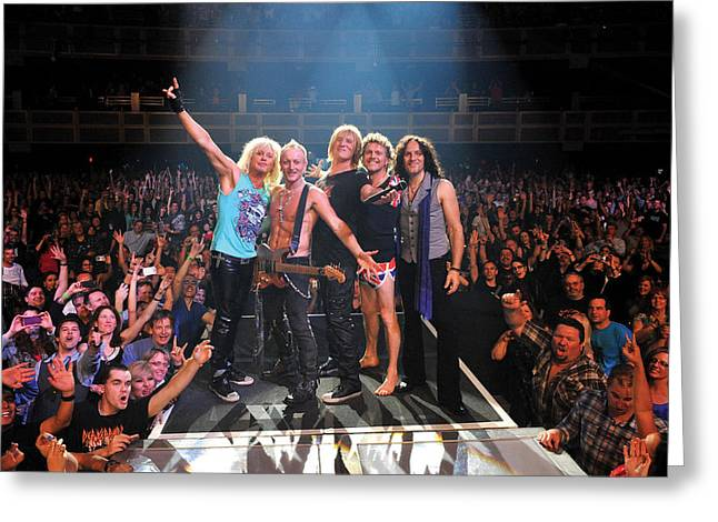 Def Leppard - Viva! Hysteria At The Hard Rock 2013 Greeting Card by Epic Rights