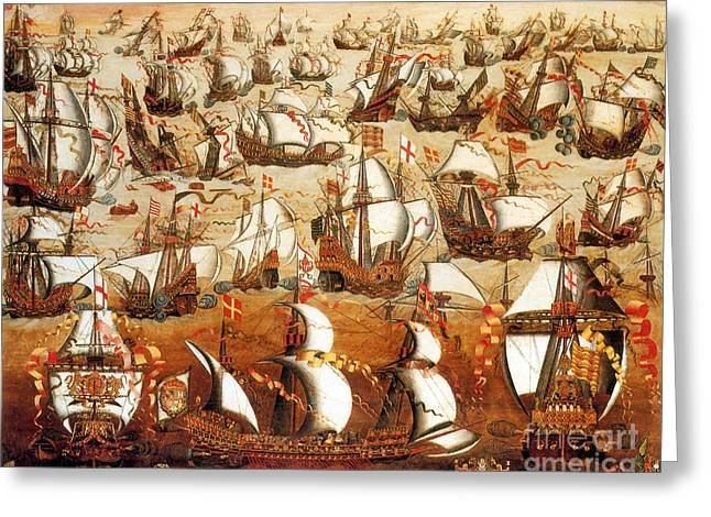 Defeat Of The Spanish Armada 1588 Greeting Card