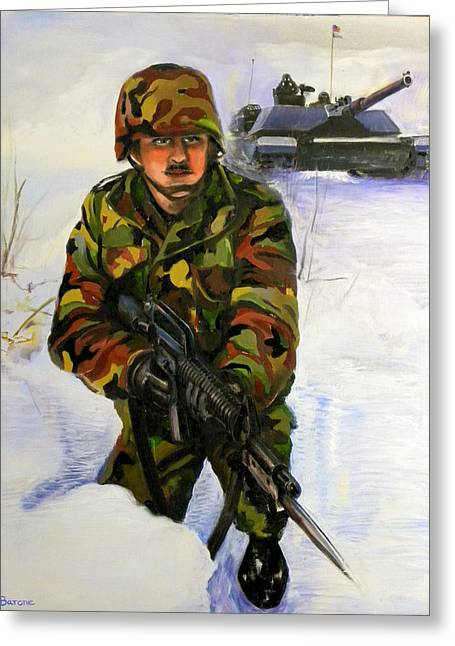 Defending The Gap Greeting Card by Richard Barone