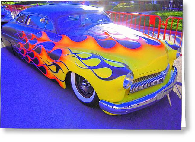 Greeting Card featuring the photograph Definitely A Hot Rod by Don Struke