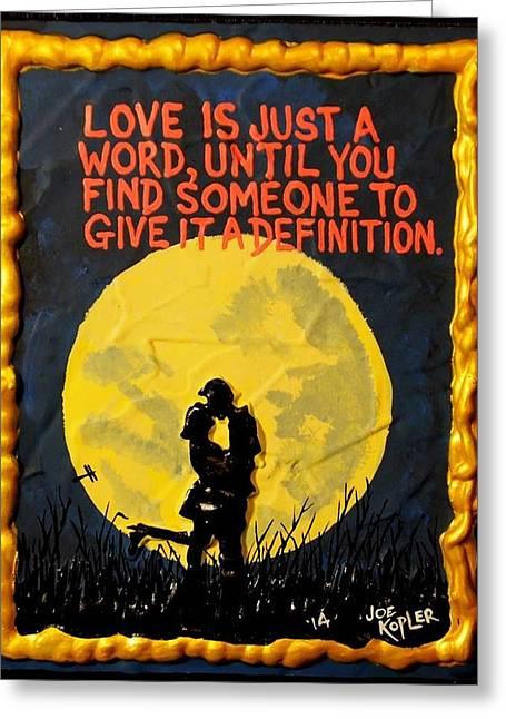 Definition Of Love Greeting Card by Joe Kopler