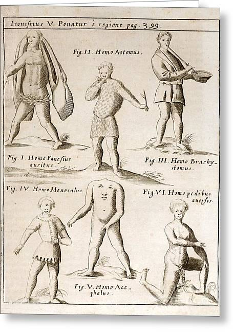 Deformities Real And Imagined, 1662 Greeting Card