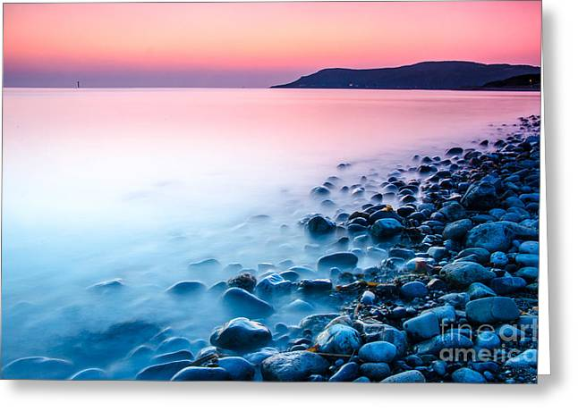 Deganwy Sunset Greeting Card by Darren Wilkes