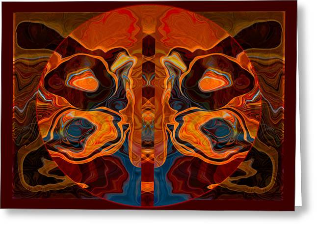 Deities Abstract Digital Artwork Greeting Card