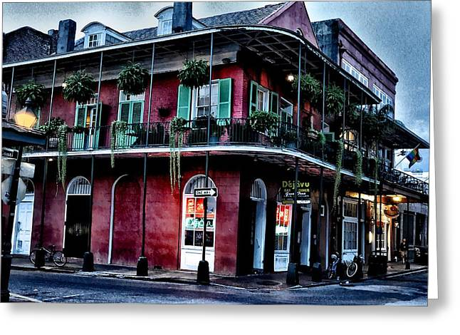 Deja Vu - Bourbon Street Greeting Card by Bill Cannon