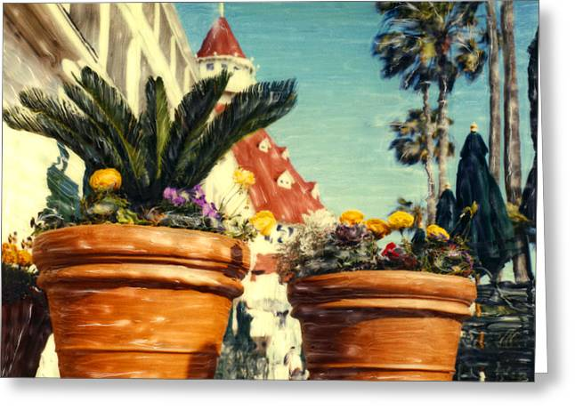 Del Flower Pots Greeting Card