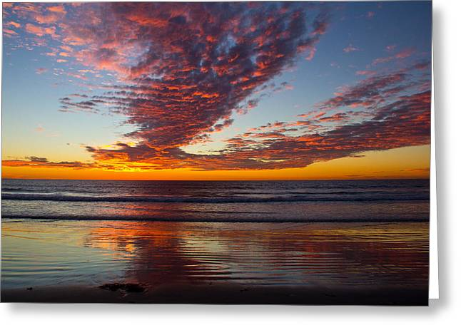 Greeting Card featuring the photograph Del Mar Sunset 14 by Randy Bayne