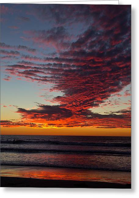Greeting Card featuring the photograph Del Mar Sunset 16 by Randy Bayne