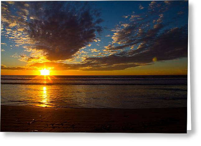 Greeting Card featuring the photograph Del Mar Sunset 7 by Randy Bayne