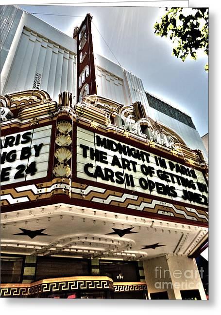 Del Mar Theater - Santa Cruz - 03 Greeting Card by Gregory Dyer