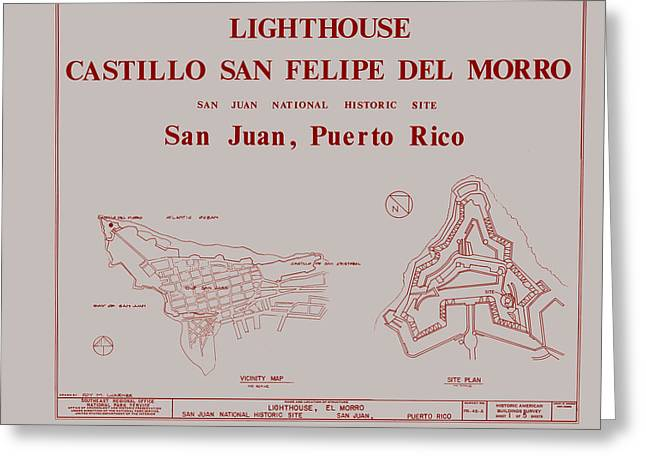 Del Morro Lighthouse - San Juan Puerto Rico Greeting Card by Mountain Dreams